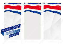 Costa Rico Flag Design Of Banners Flyers Brochures With Flag Of Costa Rica