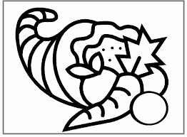 cornucopia coloring pages kids coloring