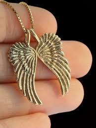 gold wings necklace images Guardian angel wing pendant 14k gold jewelry jpg