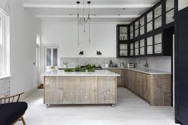 Kitchen Scandinavian Design Neutral Colors And Rustic Wood Texture Creating Interior