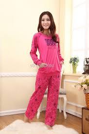 2018 or autumn fashion pink pajamas set pyjamas