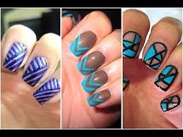 easy nail art for beginners using stripers youtube