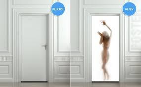 door decals u0026 giant door wall sticker emergency exit decole film