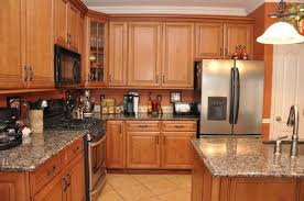 kitchen cabinet and countertop ideas kitchen oak cabinets with modern oven and black stove