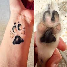 the most adorable paw print tattoos ever