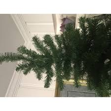 7 5 ft valley spruce pencil slim tree with clear lights