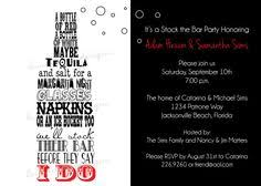 stock the bar party stock the bar invitation printable bridal showers