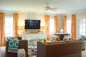 Orange And Brown Home Decor Orange And Brown Living Room Curtains U2013 Decoration