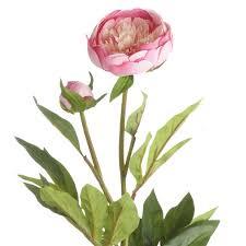 faux peonies faux peony flower stem oka