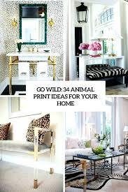 Leopard Print Home Decor Animal Print Furniture Home Decor Medium Size Of Zebra Print Home