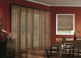 Window Covering Ideas For Sliding Glass Doors by Budget Blinds Woven Wood Panel Track Blinds Patio Door Window