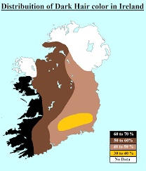 Map Of Kohler Wisconsin by Distribution Of Dark Hair Color In Ireland Map Maps Ethnics