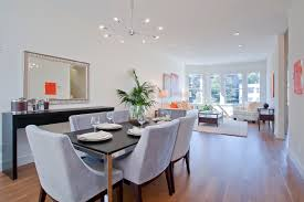 buffet table dining room design ideas cool chandelier and light hardwood floor plus