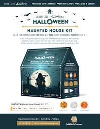 halloween gingerbread house kit cobblestone kitchens
