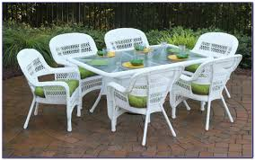White Patio Furniture Sets Collection In White Patio Furniture Outdoor Decor Plan White