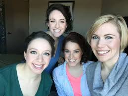 birde bridemaids makeup ready to get dressed for the big day by