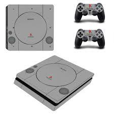 playstation 4 design gray design vinyl ps4 slim sticker for sony playstation 4 slim