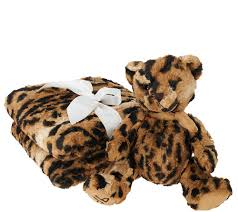 Leopard Print Faux Fur Throw Dennis Basso 55x65 Oversized Signature Faux Fur Throw With Teddy