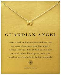 guardian wings necklace gold