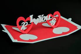 valentine u0027s day pop up card twisting heart creative pop up cards