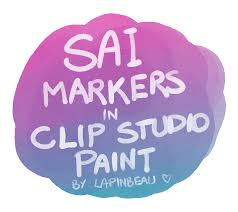actual sai marker tool for clip studio paint by lapinbeau on