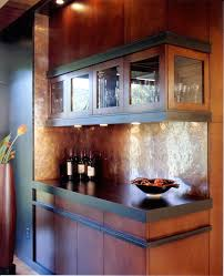 copper backsplash ideas kitchen contemporary with concrete