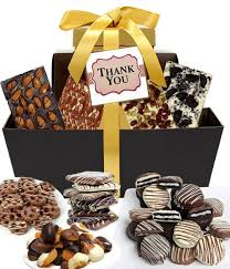 thank you gift basket chocolate covered company thank you gifts