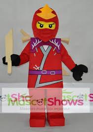 Mascot Costumes Halloween Lego Ninjago Kai Mascot Costume Size Cartoon Character