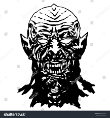 bared teeth hungry vampire vector illustration stock vector