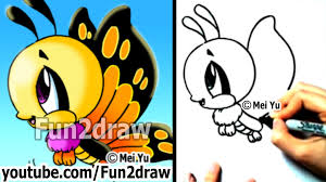 how to draw cartoons easy how to draw a butterfly cute