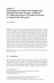 Margins On Resume Integrating Social Justice Into Engineering Education From The