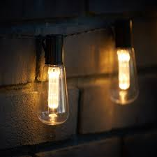 10 led vintage style edison bulb lights warm white solar powered