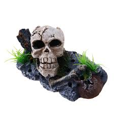 aquarium fish tank decoration pirate skull skeleton ornament fish