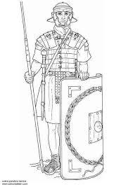Coloriage Soldat de larmée romaine dessin gratuit à imprimer
