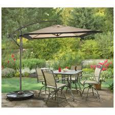 10 Ft Offset Patio Umbrella Commercial Offset Patio Umbrella 10 Inch Bronze Pole Color Sturdy