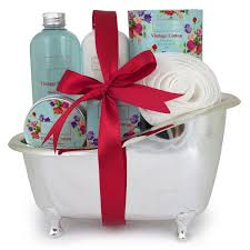 Bath And Body Gift Sets Winter In Venice Vintage Cotton Bath Tub Gift Set