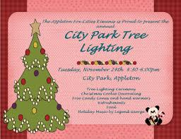 annual appleton christmas tree lighting in city park before the parade