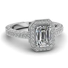 neil emerald cut engagement rings save big on emerald cut halo engagement rings fascinating diamonds