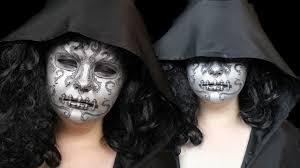halloween mask makeup bellatrix death eater mask halloween make up tutorial
