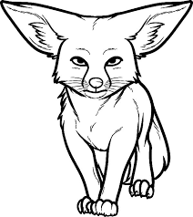Big Ear Kit Fox Coloring Pages Download Print Online Coloring Ear Coloring Page