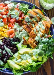 southwestern chicken salad with creamy cilantro dressing gimme