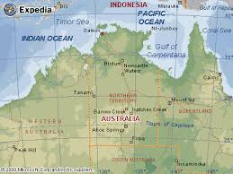 territories of australia map of the northern territory australia