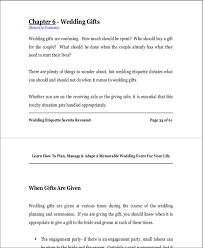 wedding gift list etiquette wedding gift list templates 6 free word pdf format