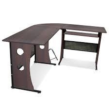 Computer Desk Sets Tinkertonk Dark Walnut Computer Desk Home Office Corner Desk Set
