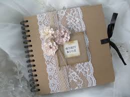vintage wedding guest book vintage style kraft wedding guest book