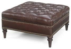 Large Tufted Leather Ottoman Leather Ottaman Tufted Leather Chair Large Square Tufted Leather