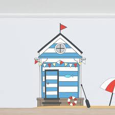 fairy beach hut wall sticker set by oakdene designs fairy beach hut wall sticker set