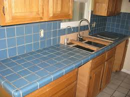 kitchen countertop tiles ideas blue tile can be covered with concrete overlay before home