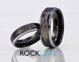 black wedding band sets tungsten carbide matching wedding band set black rings mm mm in