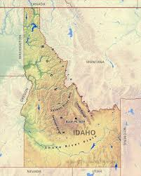 United States Map Rivers And Mountains by Physical Map Of Idaho